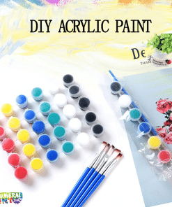 6-8 Acrylic Paint Set For Paint By Numbers
