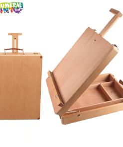 Wooden Desktop Easel & Storage Case