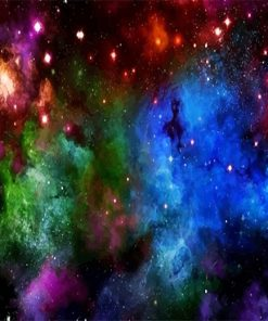 Beautiful Colorful Space paint by number