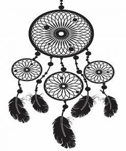 Black Dream Catcher adult paint by numbers