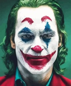 Joker face adult paint by number