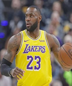Lebron james Lakers player adult paint by number