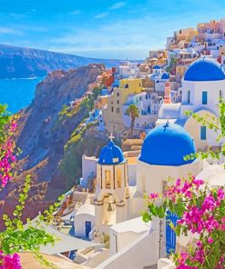 Thira Santorini Greece adult paint by numbers