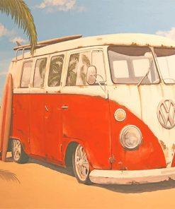 Vintage VW bus adult paint by numbers