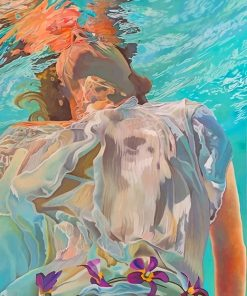 Woman in the water adult paint by numbers