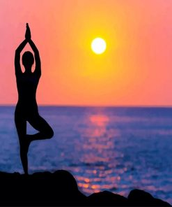 Yoga Sunset Silhouette Paint by number