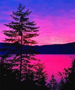 Purple Landscape paint by number