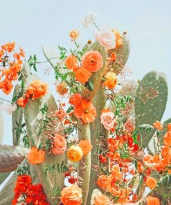 Cactus Flower Aesthetic paint by number