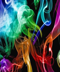 Colorful Light Smoke paint by number