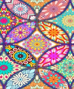 Colorful Mandala 2 NEW paint by number