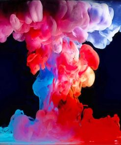 Colorful Smoke Abstract paint by number