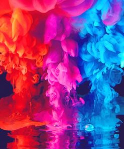 Colorful Smoke paint by number