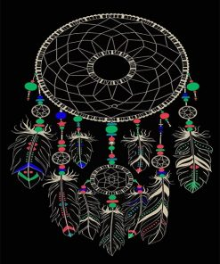 Dream-catcher paint by number