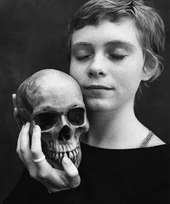 Girl With Skull Photography paint by number