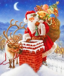 Santa Christmas paint by number