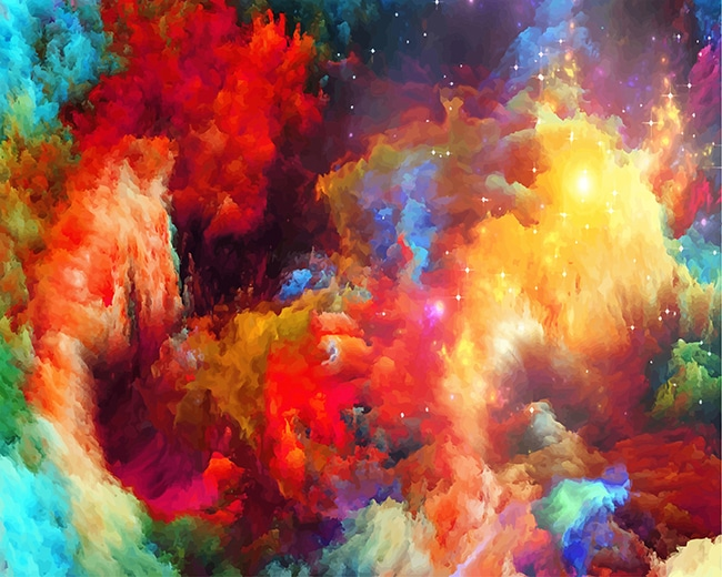 Space Amazing Nebula paint by number