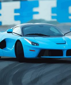 super car blue adult paint by number