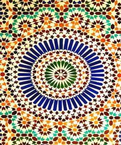 The Paris Mosque Details paint by number