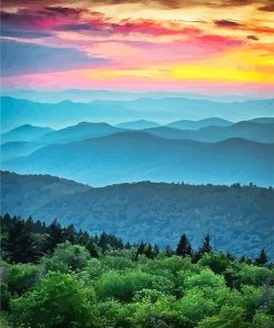Virginia Blue Ridge paint by number