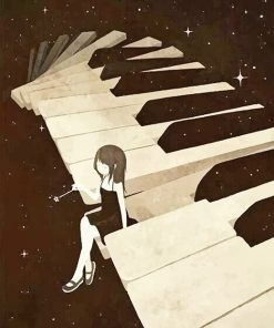 Piano Girl Paint By Numbers