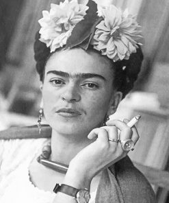 Frida Black And WhitePaint By Numbers