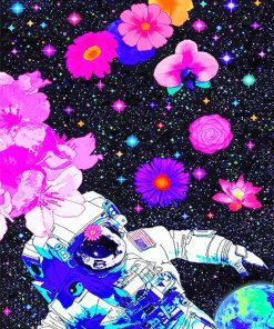 Aesthetic space man adult paint by numbers