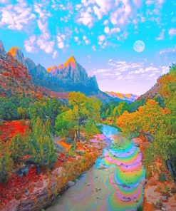 Beautiful Colorful nature adult paint by numbers