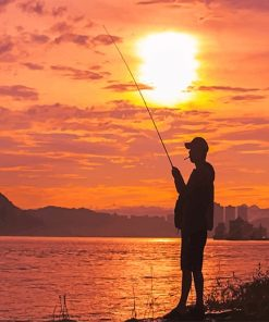 Fishing In The Sunset paint by number