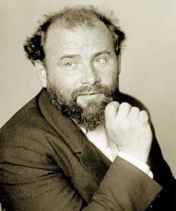 Gustav Klimt Black And White paint by number