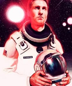 Matthew Mcconaughy Interstellar adult paint by numbers