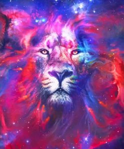Nebula Lion adult paint by numbers