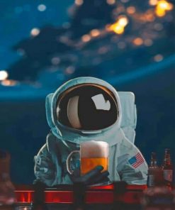 Astronaut In Space paint by numbers