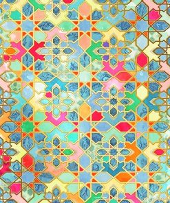 Moroccan Colorful Mosaic paint by number