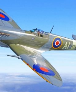 Fighter Spitfire paint by number