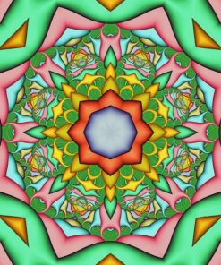 Green Mandala paint by number
