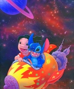 Lilo And Stitch Galaxy Paint By numbers
