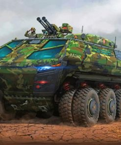 Military Weapon Paint By Numbers
