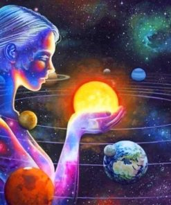 Planets Woman Paint By Numbers