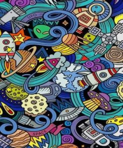 Colorful Painting Pop Art paint by numbers