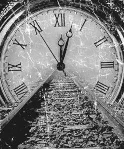 Vintage Clock Paint By Numbers