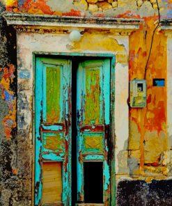 Vintage Old Door paint by numbers