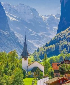 Beautiful Nature In Austria paint by numbers