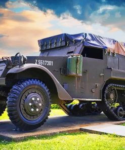 Military Vehicle World War Army paint by numbers