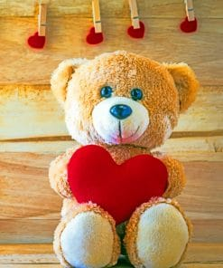 Christmas Teddy Bear Paint By Numbers