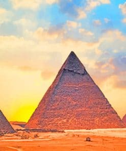 Egypt Giza Pyramids paint by numbers