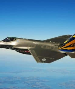 F35 Fighter Jet paint by numbers