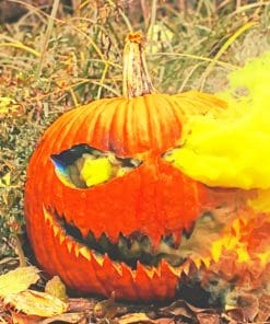 Halloween Big Pumpkin paint by numbers