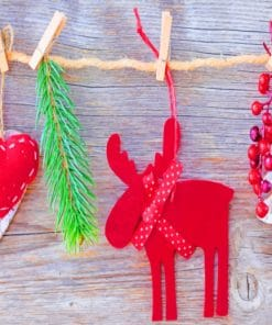 Handmade Ornaments For Christmas paint by numbers
