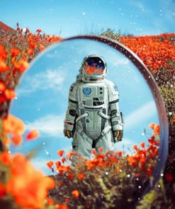 Aesthetic Astronaut paint by numbers