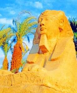 Avenue Sphinxes Ancient Egypt World paint by numbers